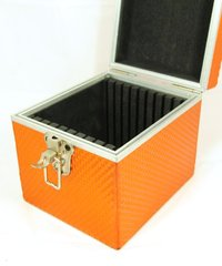 "Orange filter case 10 slot for 6.6""x6.6"""