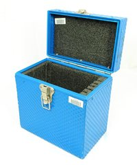 "Blue filter case 5 slot for 6.6""x6.6"" filters"