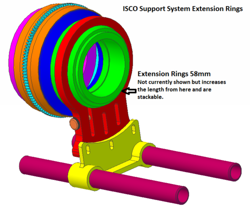 ISCO Extension Rings for Support System VI,VII, 30, 36